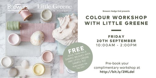 Little Greene Colour Workshops at Brewers Hedge End