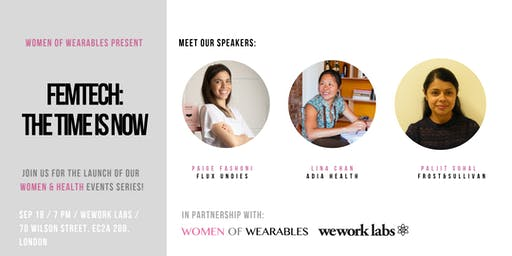 Women & Health events series: FemTech - The Time Is Now