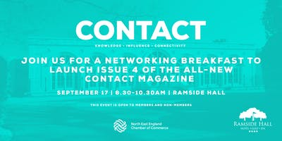 CONTACT - networking breakfast to launch issue 4