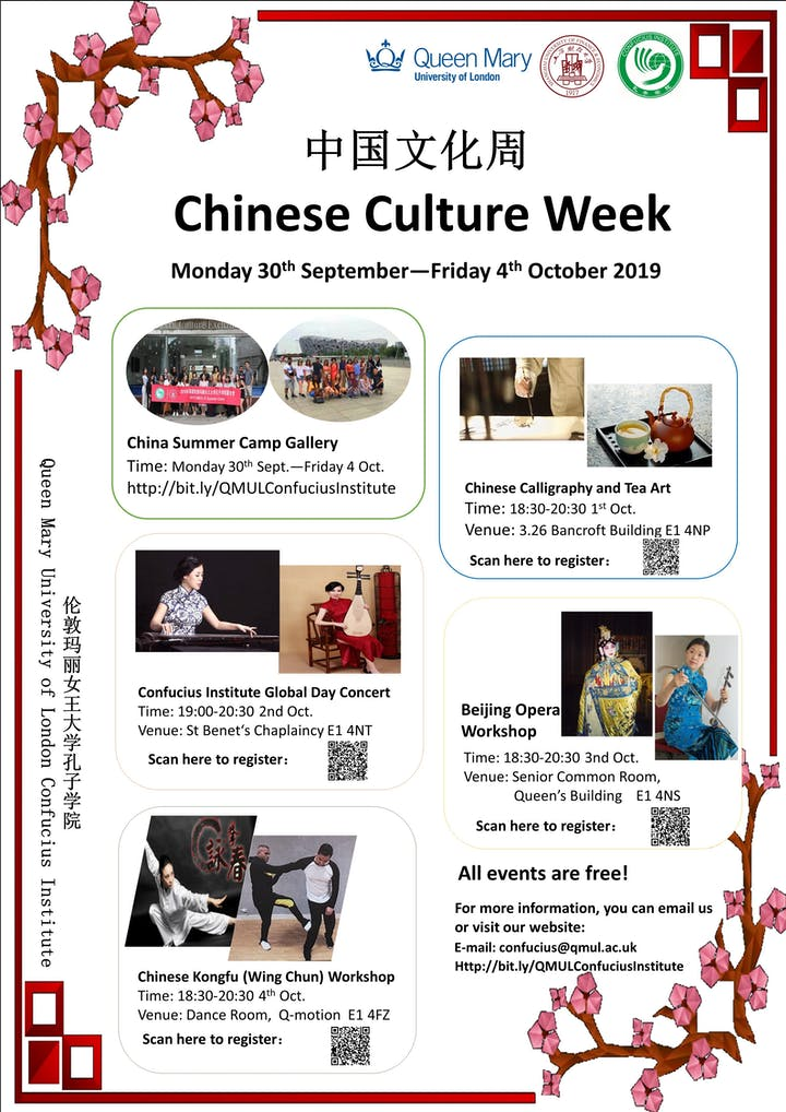 Chinese Culture Week Tickets, Mon 30 Sep 2019 at 19:00