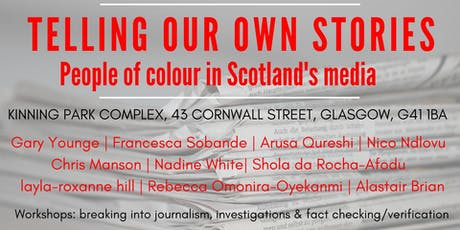 Telling our own stories: People of colour in Scotland's media tickets