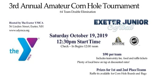 The 3rd Annual Exeter Jr. Softball Amateur Corn Hole Tournament