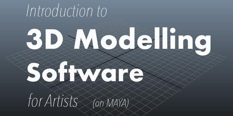 Introduction to digital 3D Modelling for Artists tickets