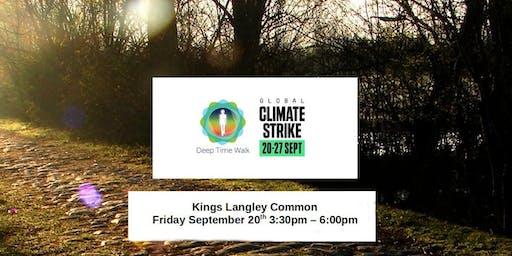Global Climate Strike - Kings Langley Common - Deep Time Walk