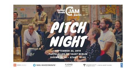 PITCH NIGHT - Global Goals Jam Berlin 2019 #1 | #Act4SDGs tickets