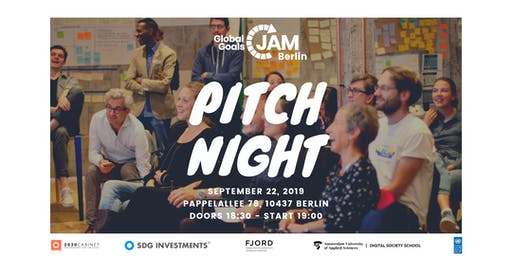 PITCH NIGHT - Global Goals Jam Berlin 2019 #1 | #Act4SDGs
