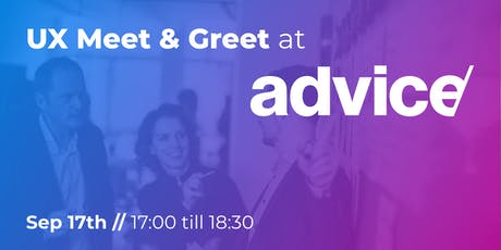 UX Meet & Greet at Advice tickets