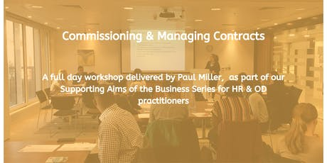 Commissioning and Managing Contracts tickets
