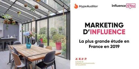 La plus grande étude sur l'influence marketing sur Instagram en France billets