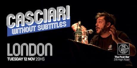 Hernán Casciari sin subtítulos — MAR 12 NOV, Londres tickets