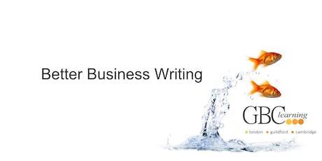 Better Business Writing - London  tickets