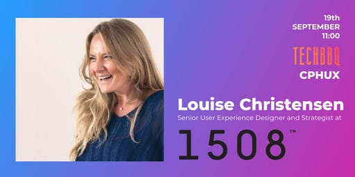 UX Passion Talk at TechBBQ by Louise Vittrup Christensen from 1508
