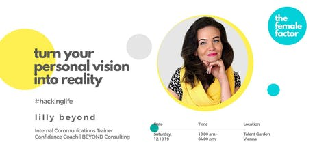 female factor masterclass | turn your personal vision into reality tickets