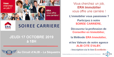SOIREE CARRIERE ERA IMMOBILIER CITE D'ALBY
