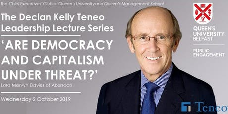 The 2019 Annual Declan Kelly Teneo Leadership Lecture tickets