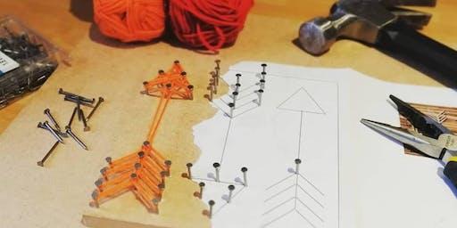 The MERL Half Term Workshop – String Art