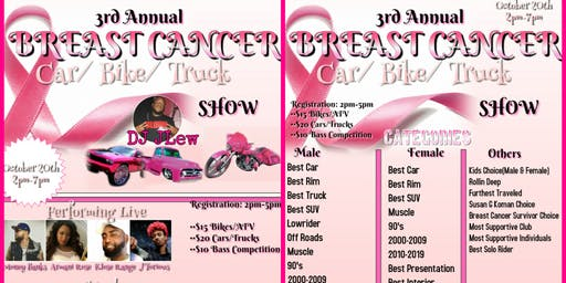 3rd Annual Breast Cancer Fundraiser Car Show