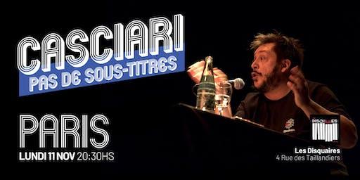 Hernán Casciari sin subtítulos — LUN 11 NOV, París