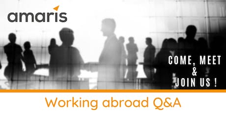 Working abroad Q&A by Amaris tickets