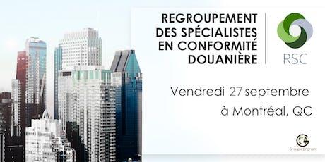 Regroupement des Spécialistes en Conformité de Montréal  billets