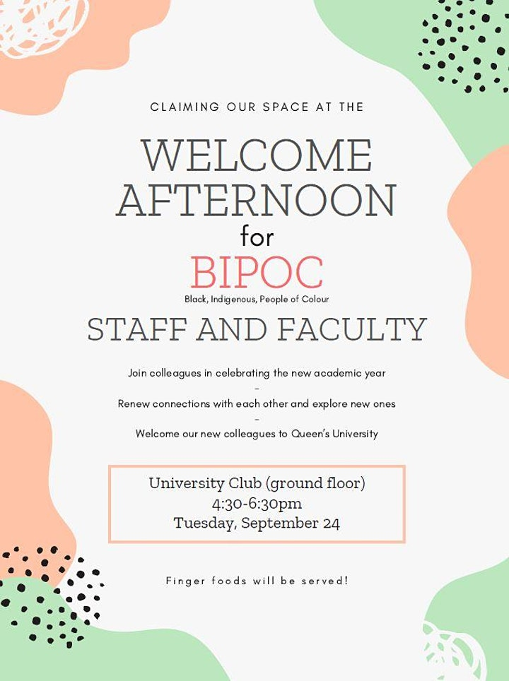 Claiming our spaces: Welcome Afternoon for BIPOC Staff & Faculty image