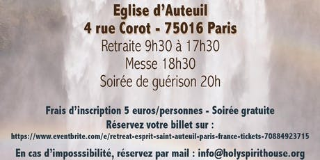 Retreat Esprit-Saint - Auteuil - Paris- France, billets