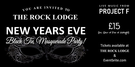 The Rock Lodge Black Tie & Masquerade New Years Eve Party. WHITSTABLE tickets