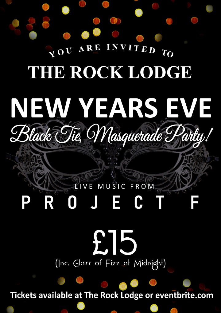The Rock Lodge Black Tie & Masquerade New Years Eve Party. WHITSTABLE image