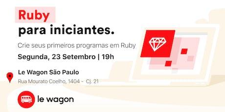 Ruby para iniciantes tickets