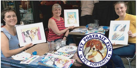 Sip and Paint Your Pet Portrait Fun -Barking Dog NEW YORK tickets