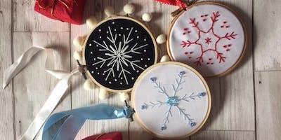 Embroidered Christmas Decorations Workshop - Melrose