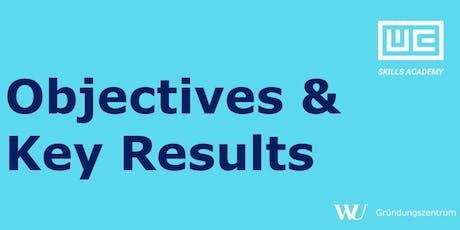 Skills Academy Workshop: Objectives & Key Results (OKR) billets