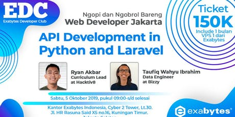 Exabytes Developer Club: API Development in Python and Laravel (Paid Event) tickets