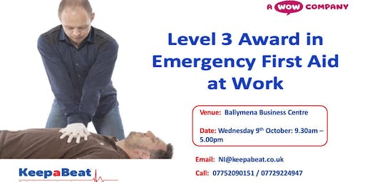 Level 3 Award in Emergency First Aid at Work (6 Ho
