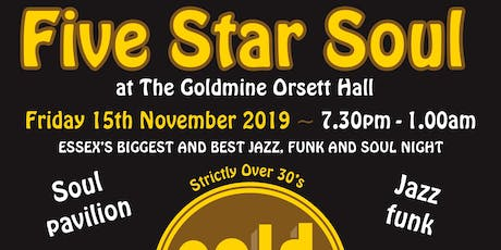 5 Star Soul at The Goldmine Orsett Hall - John Osborne tickets
