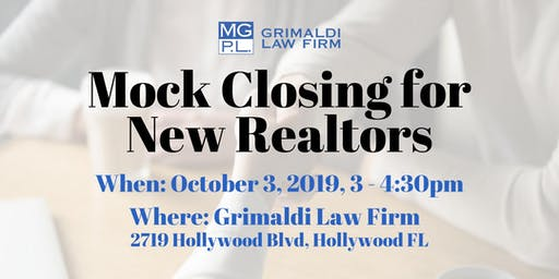Mock Closing for New Realtors