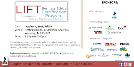 LIFT Business Ethics Certification Program tickets