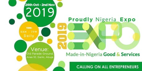 Proudly Nigeria Expo 2019 tickets