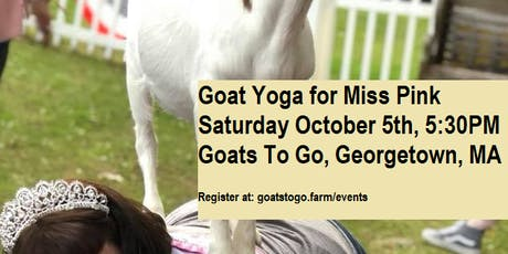 Charity Goat Yoga & Sangria Tasting for Miss Pink tickets