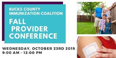 Bucks County Immunization Coalition Fall Provider Conference