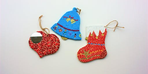 Christmas Mosaic Workshop Special! Christmas gift making mosaic class