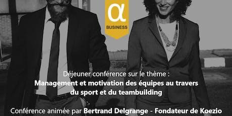 Déjeuner avec une conférence de Bertrand DELGRANGE billets