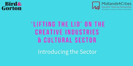 'Lifting the Lid' on the Creative Industries & Cultural Sector tickets