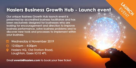Haslers Business Growth Hub - Launch Event tickets