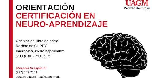 Orientación Certificación de Neurociencia del Aprendizaje
