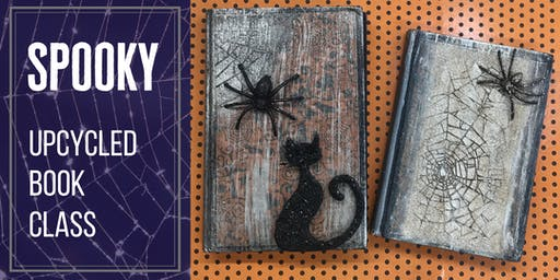 Save the Books! Spooky Upcycled Book Class