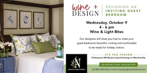 Wine and Design: An Inviting Guest Bedroom