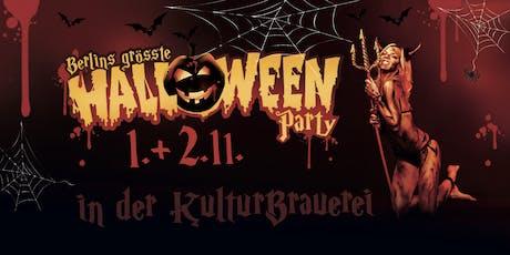 Halloween in der Kulturbrauerei Samstag Tickets