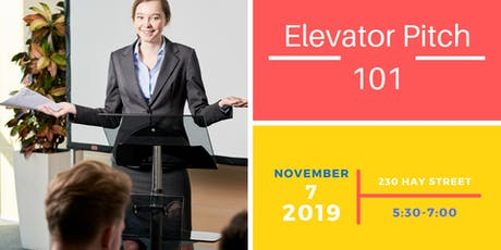 Elevator Pitch: Business Pitch 101 tickets