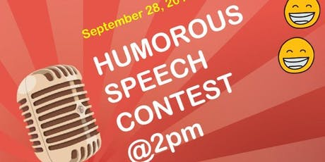Toastmasters humorous speech contest  tickets